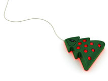 Computer mouse in christmas tree style. On white background. High resolution 3D image Royalty Free Stock Image