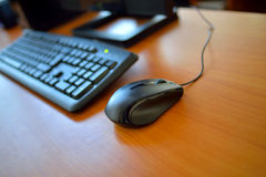 Computer and mouse Royalty Free Stock Photos