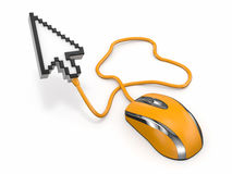 Computer mouse and cursor Royalty Free Stock Photos