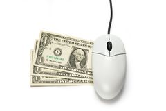 Computer mouse with dollar Stock Image