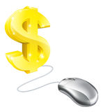Computer mouse dollar concept Royalty Free Stock Image