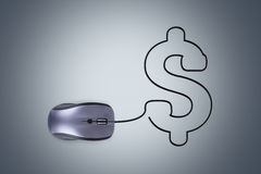 Computer Mouse with Dollar Sign Royalty Free Stock Photos