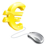Computer mouse Euro concept Stock Photo