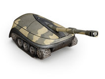 Computer mouse in form of a tank Royalty Free Stock Images