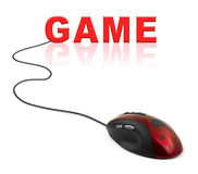 Computer mouse and Game Stock Image