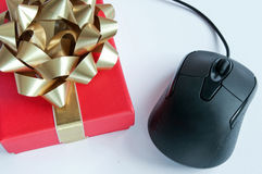 Computer mouse gift Royalty Free Stock Photography