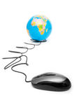 Computer mouse and globe Stock Photography