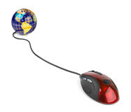 Computer mouse and globe Royalty Free Stock Image