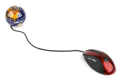 Computer mouse and globe Stock Image