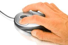 Computer mouse and hand Stock Image