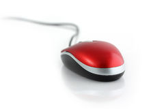 Computer mouse with hand. Computer mouse  with the isolated background Royalty Free Stock Images