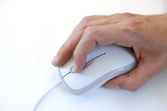 Computer mouse with  hand Royalty Free Stock Photos
