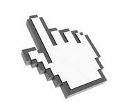 Computer Mouse Hand Icon. Three dimensional illustration of Computer Mouse Hand Icon