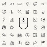 Computer mouse icon. Detailed set of minimalistic icons. Premium graphic design. One of the collection icons for websites, web des. Ign, mobile app on colored Stock Images