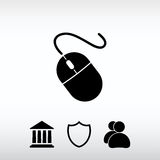 Computer mouse icon, vector illustration. Flat design style Stock Photography