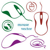Computer mouse icons. Vector illustration Stock Photos