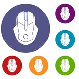 Computer mouse icons set Royalty Free Stock Photo