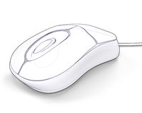 Computer mouse illustration Royalty Free Stock Photo