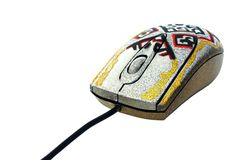 Computer mouse with kazakh folk pattern Stock Images