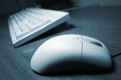 Computer mouse and keyboard royalty free stock photo