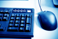 Computer mouse and keyboard Royalty Free Stock Photos