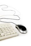 Computer mouse and keyboard stock image