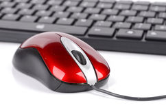 Computer mouse and keyboard Royalty Free Stock Images