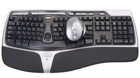 Computer mouse and keyboard Royalty Free Stock Photography