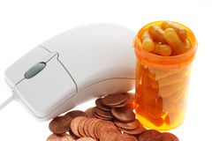 Computer mouse medicine money Stock Photo