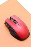 Computer mouse and mouse pad Stock Photos