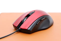 Computer mouse and mouse pad Royalty Free Stock Photo