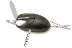 Computer mouse multitask Stock Image