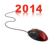 Computer mouse and 2014 Stock Images