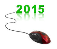 Computer mouse and 2015 Stock Photography
