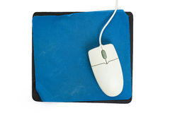 Computer Mouse and old Mouse pad Stock Photos