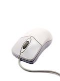 Computer Mouse On White Background With Soft Shadow Stock Photos