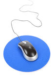 Computer Mouse and pad Stock Photo
