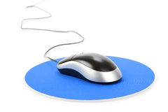 Computer Mouse and pad Royalty Free Stock Images