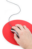 Computer Mouse and pad Stock Photos