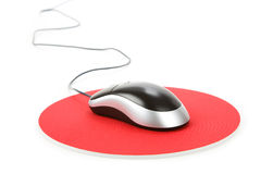 Computer Mouse and pad Royalty Free Stock Photos