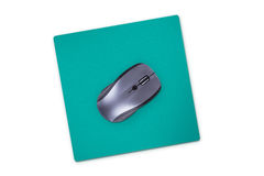 Computer Mouse with Pad Stock Photos