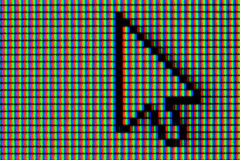 Computer/Mouse Pointer. Close-up of common computer/mouse pointer Stock Photo