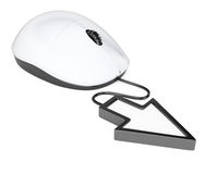 Computer mouse with pointer cursor Royalty Free Stock Images