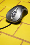 Computer mouse on post it notes Stock Image