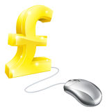 Computer mouse pound concept Stock Photo
