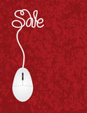 Computer Mouse Sale Red Background Illustration Stock Photos
