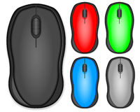 Computer mouse set Stock Image