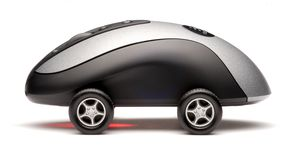 Computer Mouse Sports Car Technology Stock Photo