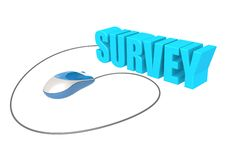 Computer mouse and survey Royalty Free Stock Images