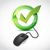 Computer mouse and survey illustration Royalty Free Stock Photo